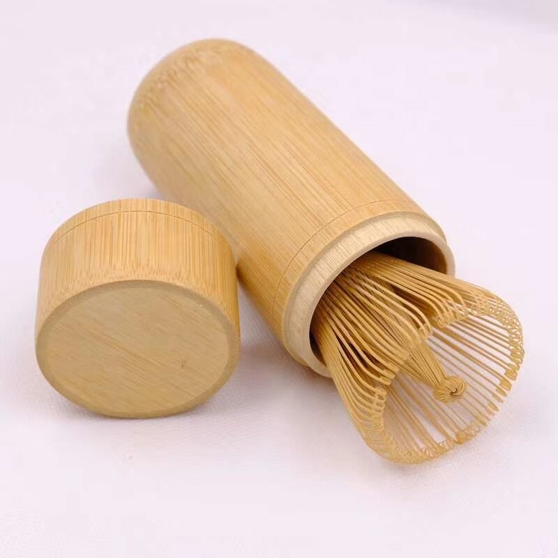 Newly Travel Matcha Whisk Set Scoop Kit With Recyclable Bamboo Case