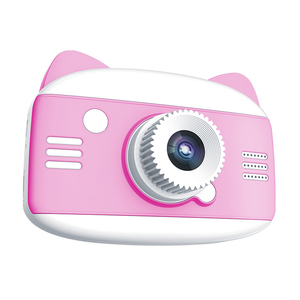 1200W HD Photo Smart Focus Kids Cute Kitty Free Shipping Photo Camera Toys Digital Camera for Children