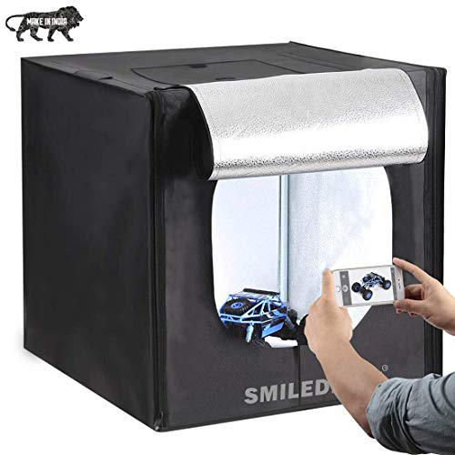 Professional portable photo studio product photography light box with 2 led lights | 60 x 60 x 60 cm