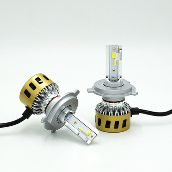 Three colors luces led h4 customized 10000LM kit led auto headlight replace c6 x3 S2 T1 h4 hi lo beam S5 car head light bulb