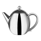 China Supplier Luxury Iso9001 Tea Pots Ware Double Wall Silver Teapot Set
