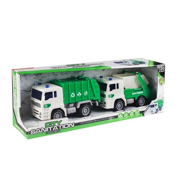 Hot Sale Children Plastic Friction Toy Garbage Truck