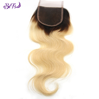 Hot Selling Color 1B/613 4*4 Body Wave Lace Closure Peruvian Hair Lace Closure 5*5