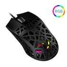 Mouse AJAZZ AJ339 New Lightweight Symmetrical Ergonomic Honeycomb Design RGB Gaming Mouse For Gamers