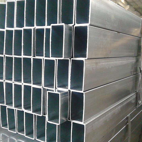 tianjin mild steel mechanical properties longitudinal welded pre galvanized square rectangular GI steel tube