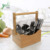 Wholesale 100% Natural High Quality Creative Bamboo Wooden Sorbus Bamboo Utensil Holder