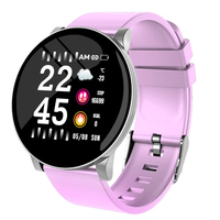 Full touch screen waterproof sport fit bit ladies smart watch