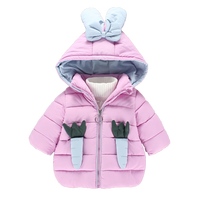 boutique children clothing hooded winter 2019 new arrival kids girls coats