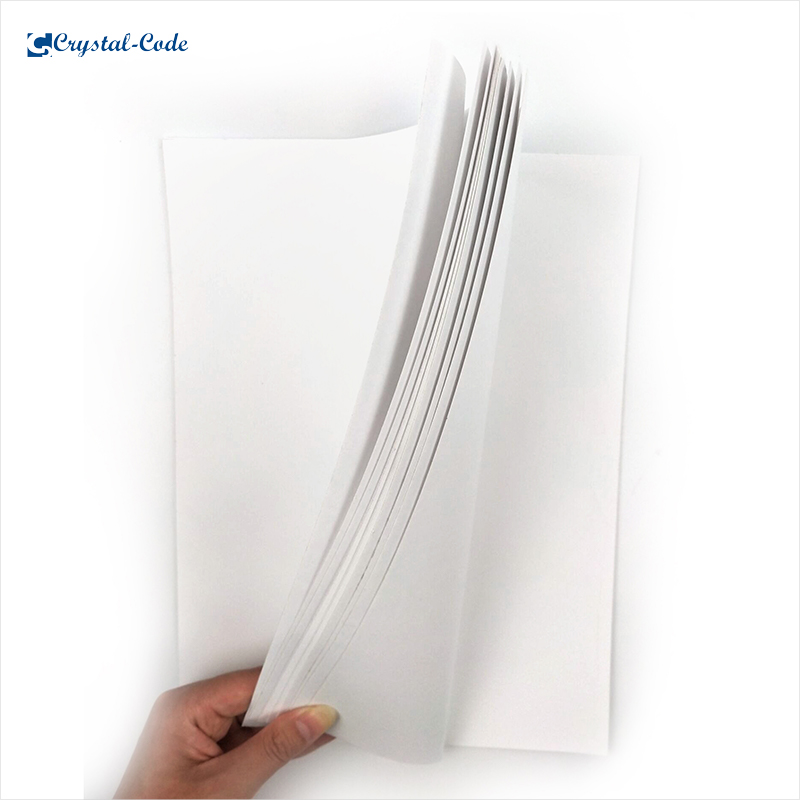 Hot sale high quality custom matte A4 adhesive sticker label paper