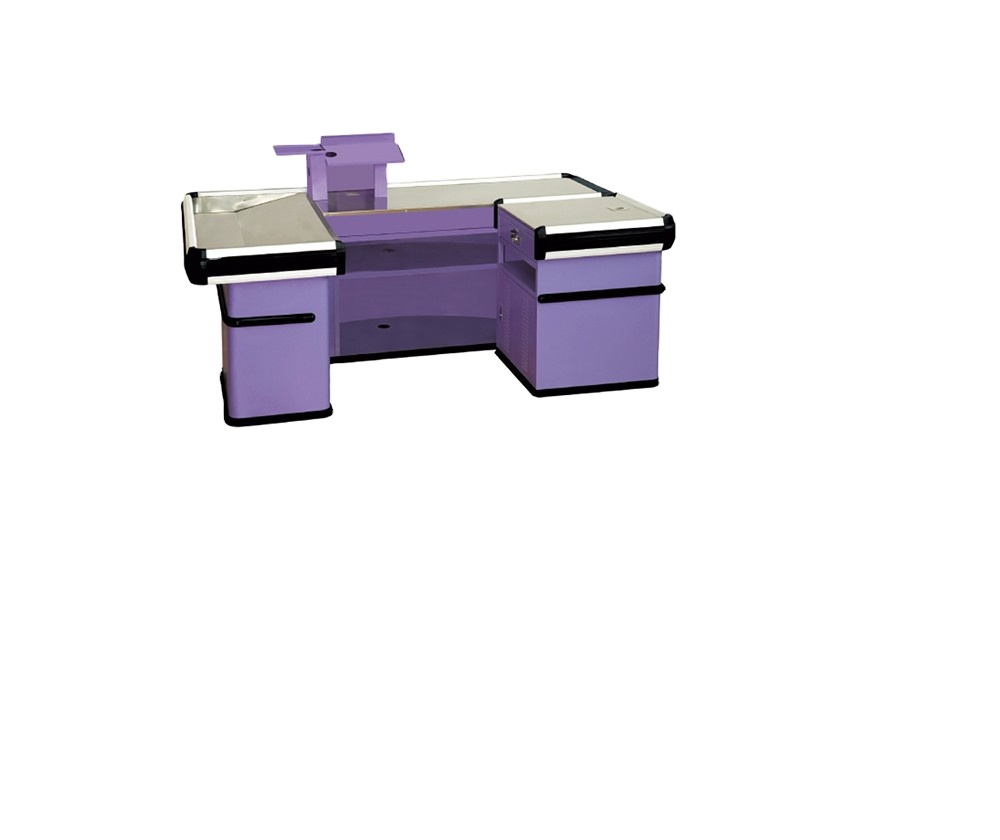 Machine de caissier professionnelle, comptoir de Protection contre la Corrosion, avec convoyeur, 1 pièce