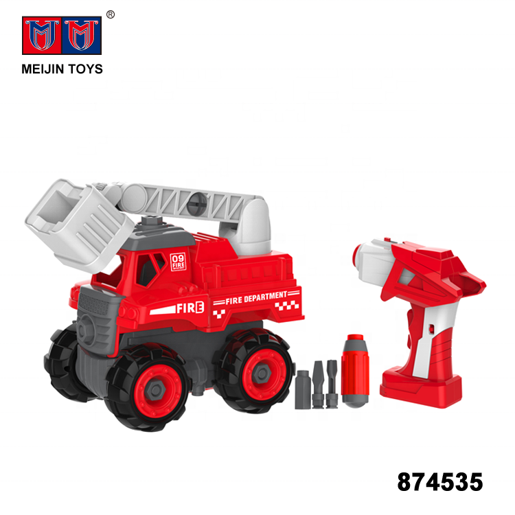 2 in 1 assembly electronic custom plastic truck toy for selling