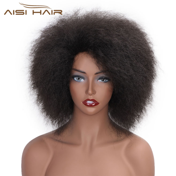 Aisi Hair Cheap Curly <strong>Synthetic</strong> <strong>Wigs</strong> Heat Resistant Cosplay Fashion <strong>Wigs</strong> Afro Curly Short Hair <strong>Wigs</strong> For Black Women