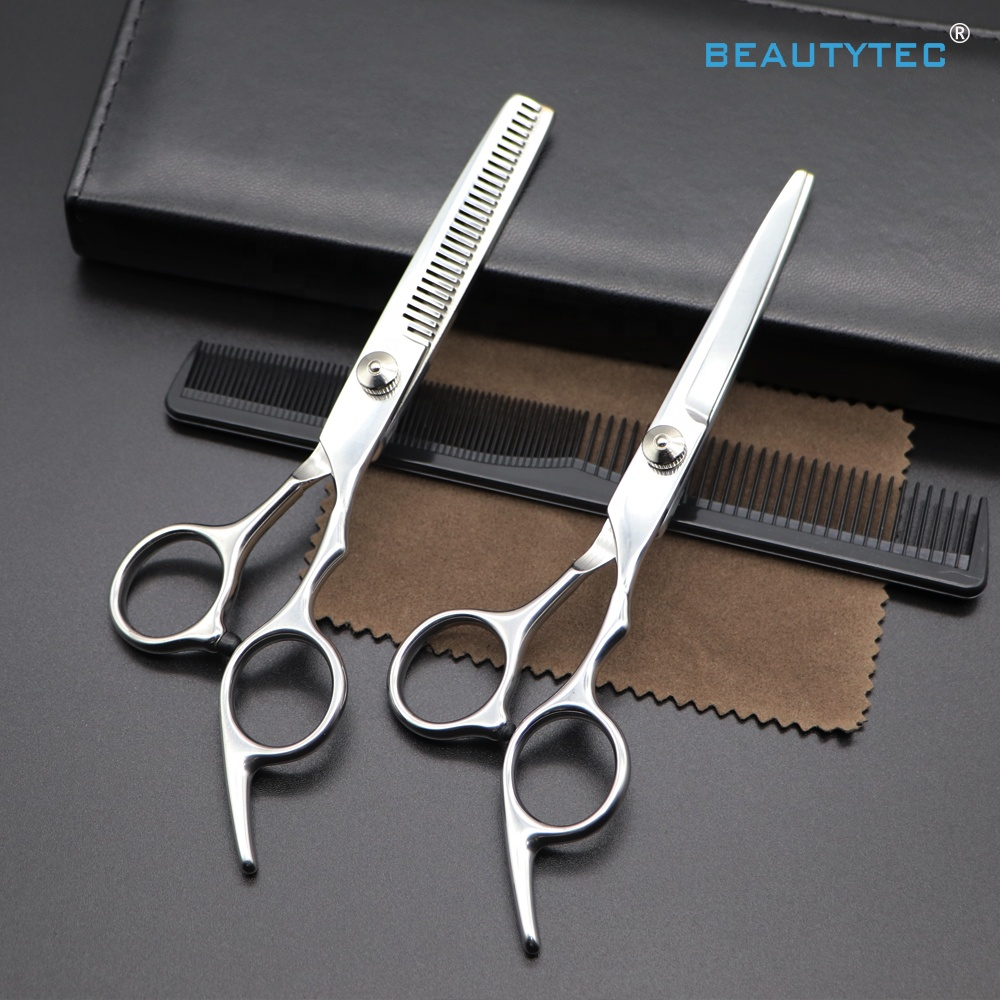 RS12  Popular  Wholesale Salon Cutting Thinning Kit Professional Best Cheap Shears Hairdressing Scissors Set