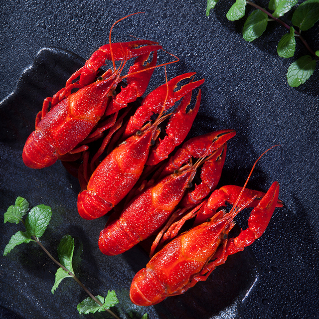 spicy cooked frozen crayfish