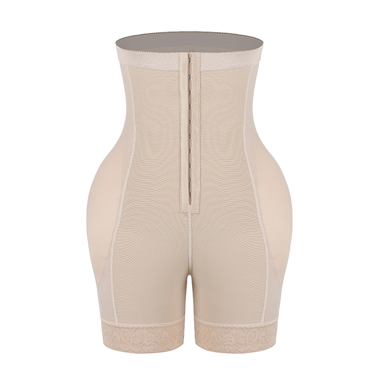 2020 New Product Women High Waist Buttock Body Shaper Lace Trim Slimming Bodysuit Ladies Shaperwear