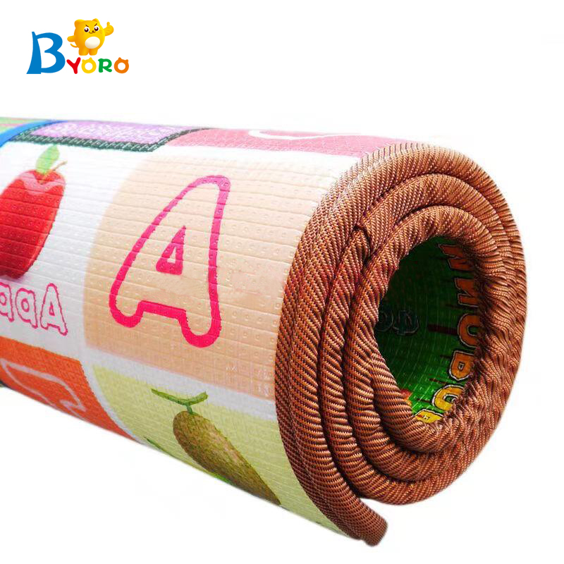 Portable tasteless XPE foam rolling play mats for kids crawling
