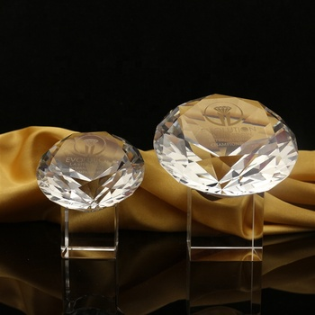 Gifts Sets Optical Clear K9 Crystal Glass Diamond Paperweight/Wholesale transparent Crystal Diamonds for Wedding Return Gifts