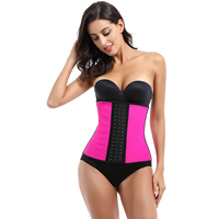 Wholesale High Quality Body Shaper Corset Tummy Sexy Vest Sweat Training Bodysuit Women Latex Waist Trainer With 9 bones