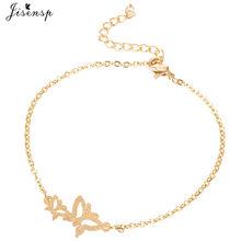 Женский браслет из нержавеющей стали Jisensp, очаровательные браслеты-бабочки с милыми животными, рождественские украшения, аксессуары(Китай)