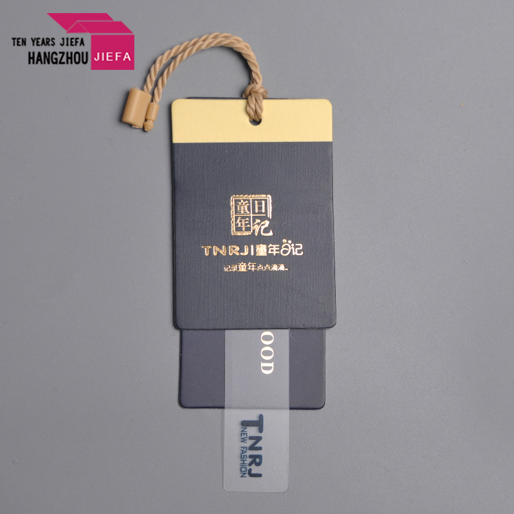 wholesale print  custom logo  gold foil stamp jewelry  pvc hang  tags