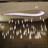 Hotel project modern glass customized pendant chandelier luxury for hotel lobby
