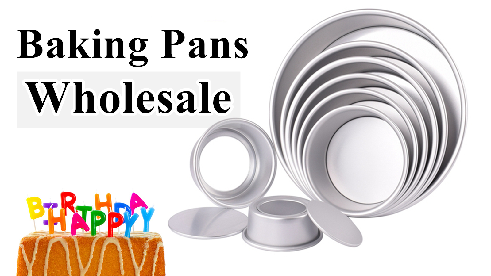 Anodized Aluminum Round Cheese Cake Pan with Removable Bottom