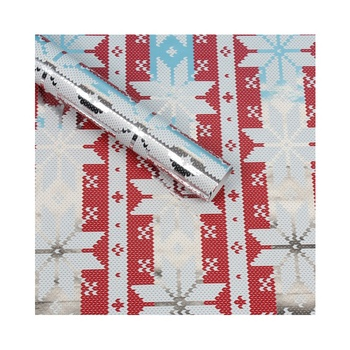 Silver snowflake foil packing metallic gift wrapping paper christmas