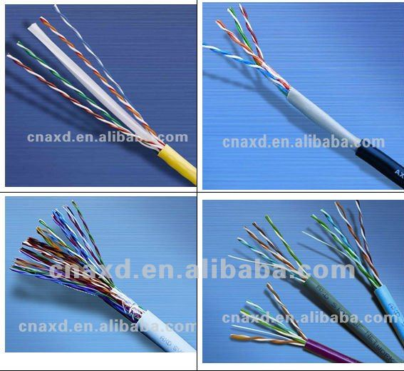 AXD UTP/FTP/STP/SFTP Cat 5e cat6 Lan Cable ,1000 ft cat5e cable copper, 23 AWG 24 awg 4 pairs cat5e cable in China