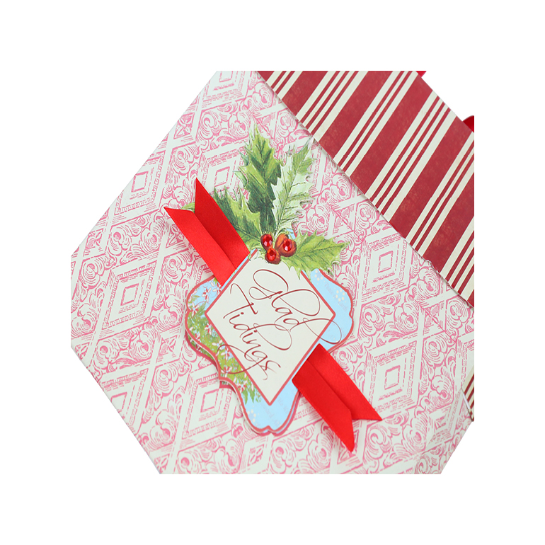 Vintage Pattern Joy Holiday Gift Bags, Best Seller Christmas Shopping Paper Bags