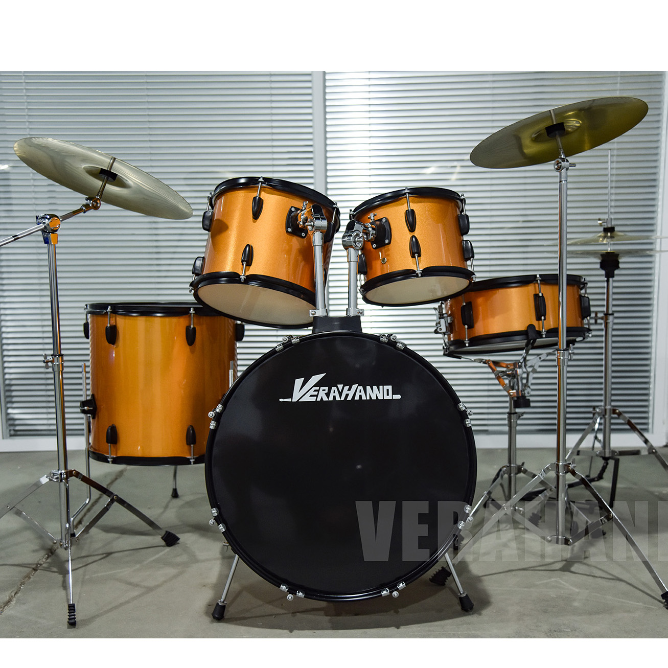 Cheap Prices 5Pcs Percussion Musical Instrument Professional Rock Drum Sets For Sale