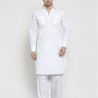 Clothing Wholesale Long Sleeve Knee Length White Kurta Designs For Male