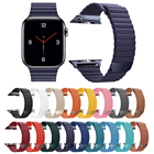 Tschick For Apple Watch Band 44/42mm 40/38mm, Strong Magnetic Leather Loop Replacement Strap Wristband for iWatch Series 5/4/3/2