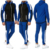 2pcs patchwork gym tracksuit custom slim fit men sport wear