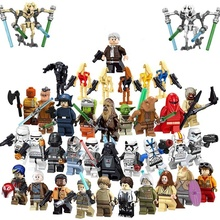 Pengiriman Gratis! Hot Starwars Legoly Mini Action Figure Bintang Superhero Yodao Darth Vader Trooper Storm Wars Blok Angka untuk Anak-anak