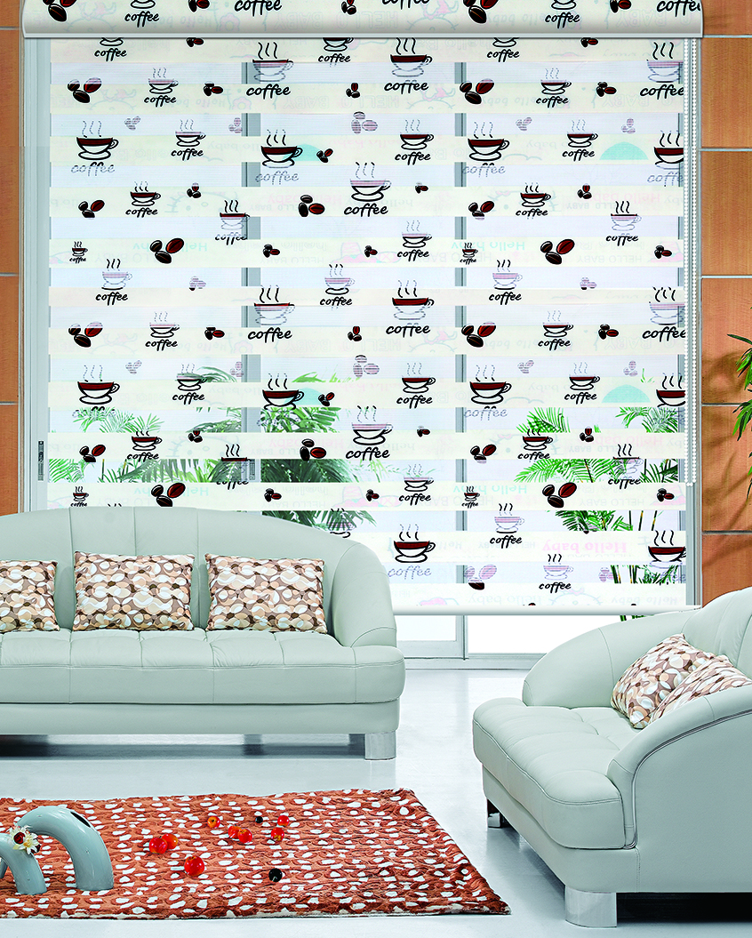 high quality window shade horizontal zebra blind in kitchen