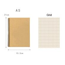 A5 B5 спиральный блокнот, рисование ноутбука, ежедневный еженедельник, планер, альбом, сетка, пустая линия, бумага, школьные принадлежности, ка...(Китай)