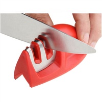 Knife Sharpener, 2-Stage Diamond Coated Wheel System, Fast, Safe and Easy to Use, Sharpening Tool for Kitchen Knives Tools