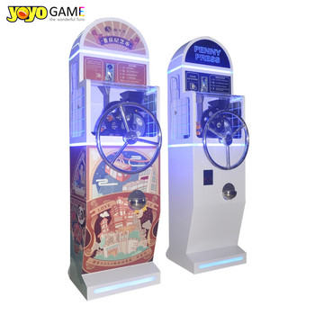 Pressed Penny For Sale Commemorative Souvenir Coin Vending Machine With Rocking Roller penny press vending machine For Museum