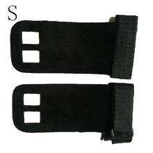 1 пара рукоятка защита ладоней перчатка Синтетическая кожа фитнес пояс для спортзала тяните вверх Бар Тяжелая подъемная поддержка запястья(China)