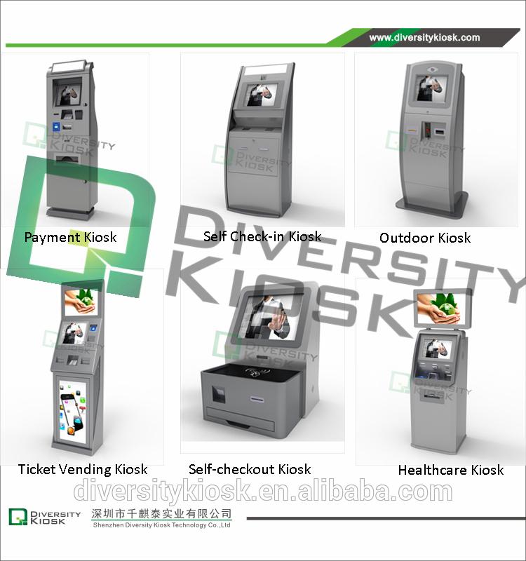 Fabriqué en Chine supermarché caisse libre service de kiosque avec des prix bas
