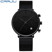Мужские часы CRRJU класса люкс от ведущего бренда, мужские наручные часы из нержавеющей стали, мужские военные водонепроницаемые кварцевые ча...(Китай)