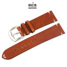 Ручной работы Мягкий Ретро Кожаный ремешок 18 19 20 22 мм для Сан Мартин автоматические часы кожаный мужской коричневый ремешок для мужчин брас...(Китай)