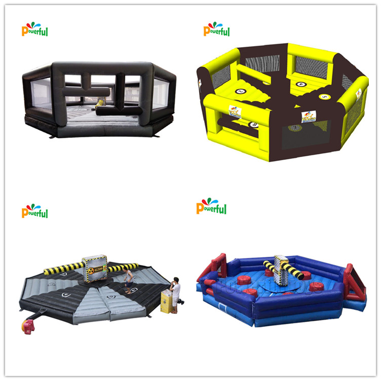 inflatable sweeper game, inflatable meltdown game, inflatable wipeout eliminator