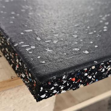 1mx1mx20mm No smell shockproof gym rubber floor 20mm rubber flooring for indoor