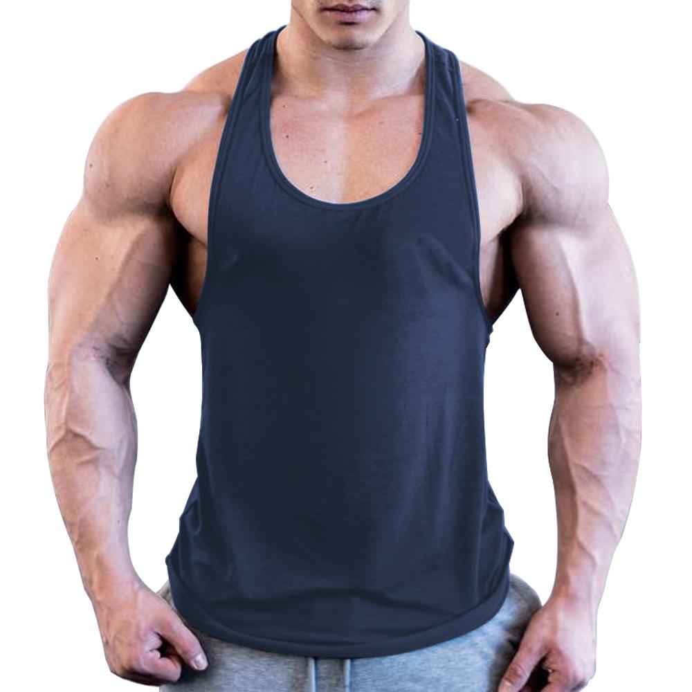 Hommes Gym Muscle Bodybuilding Chemise Sans Manches Tank Top Singlet Fitness Imprimé Débardeur