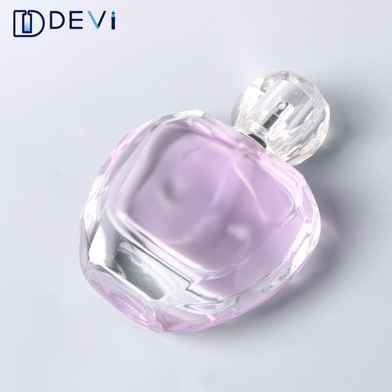 Devi Glas 100ml Kosmetik Elegante Blau Parfüm Flasche Spezielle Quadratische Leere Glas Parfum Flasche