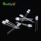 F5 5MM 2-Pin Highlight LED Light Bulb Emitting Diodes Red/Green CC