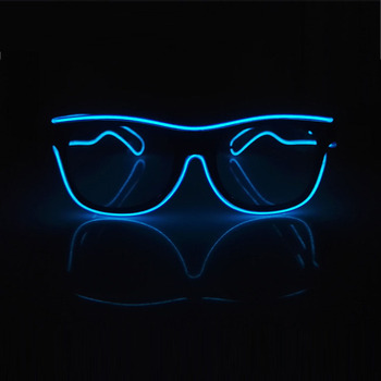 Flashing Glasses EL Wire LED Glasses Glowing Party Supplies Lighting Novelty Gift Bright Light Festival Party Glow Sunglasses