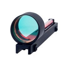Lightweight 1x25 Red Fiber Red Punctuate aiming Sight Scope Holographic Sight Fit Shotgun Rib Rail for Hunting