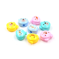 Back to school stationery cartoon animals cute design plastic pencil sharpener